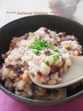 小豆と里いもの押し麦リゾット3