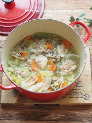 鶏肉とキャベツのしょうが風味スープ2