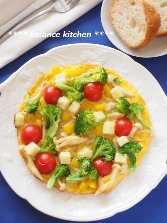 野菜と塩麹チーズのオープンオムレツ