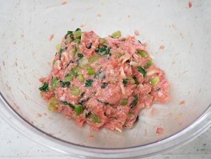 小松菜チーズハンバーグ工程1小