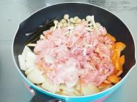 豚こまと大根の豆乳鍋風手順1