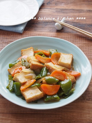 絹揚げと野菜の甘酢あん2
