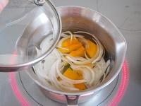 かぼちゃと玉ねぎのお味噌汁 工程1