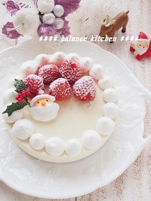 豆乳レアチーズ クリスマスケーキ 2015