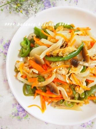 油揚げと野菜のオイスター炒め1