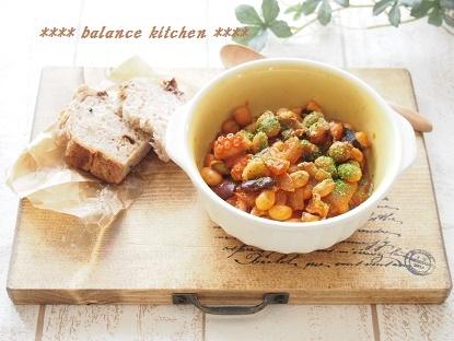 たこと豆のトマト煮2
