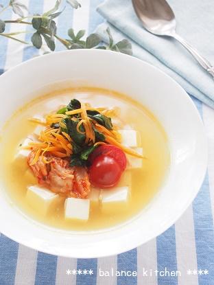 韓国冷麺風 豆腐スープ ブログ1