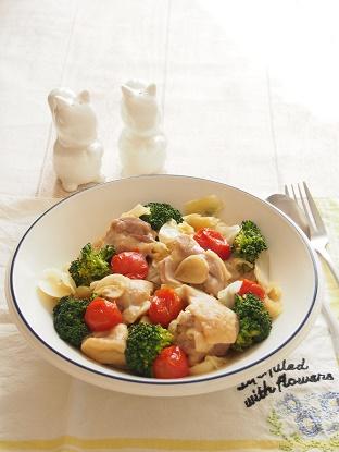 鶏肉とキャベツのガーリック蒸し ブログ