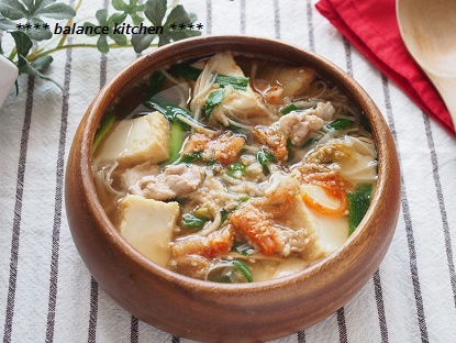 厚揚げと切干大根のキムチスープ2