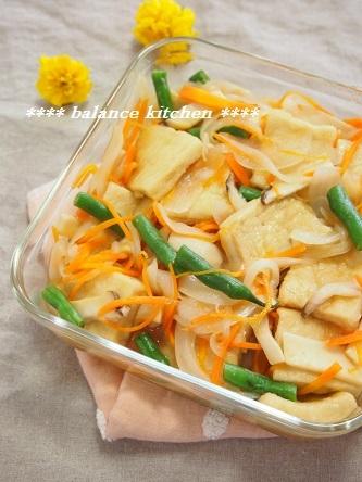高野豆腐と野菜の麺つゆびたし2