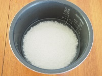にんじんとツナの炊き込みごはん工程1