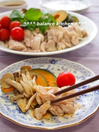 鶏肉とかぼちゃのレンジ蒸し コク旨ソース5
