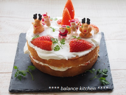 クリスマス ネイキッドケーキ