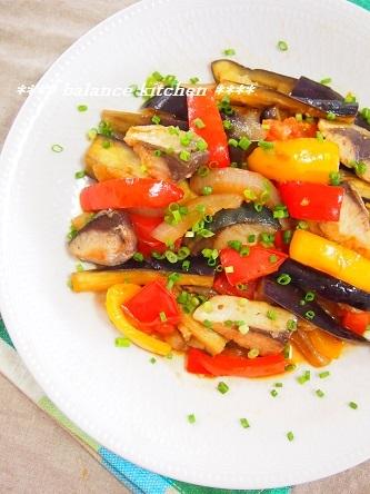 塩サバと茄子のフレッシュトマト炒め2