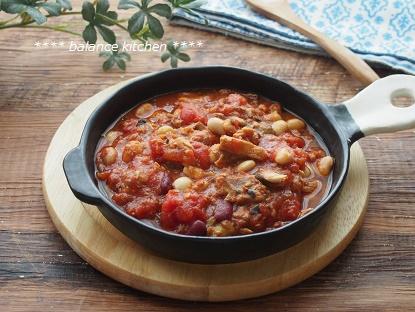 さばと豆のトマト煮2