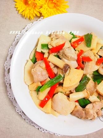 鶏肉と筍のエスニック炒め3