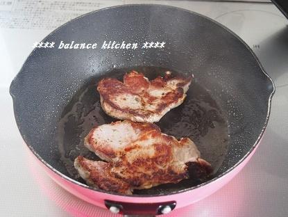 豚肉のマリネステーキ 焼き方2