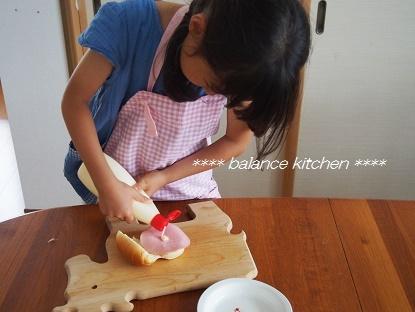 キッズ食育 ランチ サンドイッチ作り7