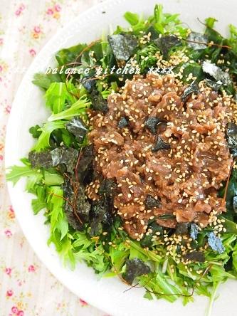 わかめと春菊の焼肉サラダ2