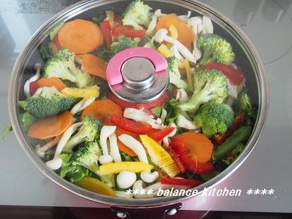 蒸し野菜サラダ 手順4