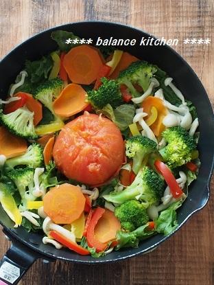 蒸し野菜サラダ 手順完成