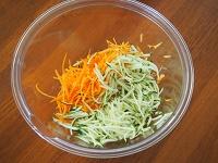 豚肉とズッキーニの香味サラダ工程1