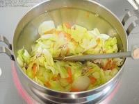坦々スープ 工程