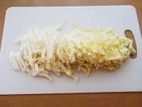 白菜ときのこの豆乳グラタン工程1