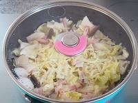 キャベツのコンソメチーズ蒸し工程3