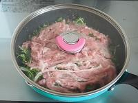 豆苗と豚しゃぶのごまだれキムチサラダ工程2