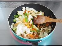 豚肉と野菜のオイスター炒め工程2