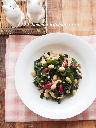 わかめと豆のツナサラダ2