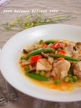 鶏肉と豆の軽い煮込1