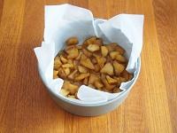カラメルりんごの豆乳チーズケーキ工程5