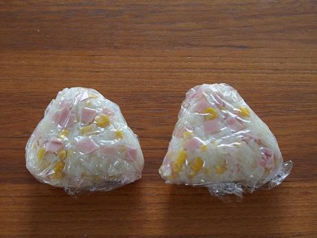 金芽米 チーズの羽根付きおにぎり 行程2 ブログ