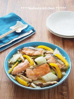白菜と鮭の南蛮漬け1