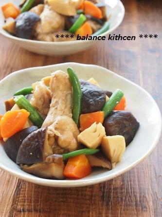 鶏肉とたっぷりしいたけの煮物3