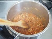 ほろほろ豚肉のトマト煮工程2