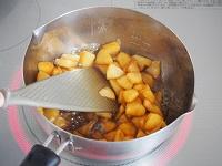 カラメルりんごの豆乳チーズケーキ工程2