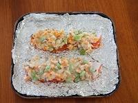 鮭と野菜のみそマヨ焼き工程1