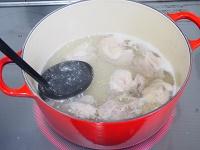 鶏肉とキャベツのしょうが風味スープ工程1