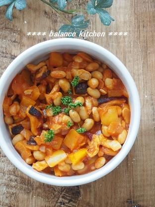 たこと大豆のトマト煮2