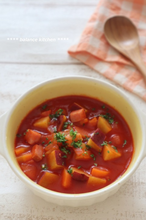 さつまいものトマトスープ1