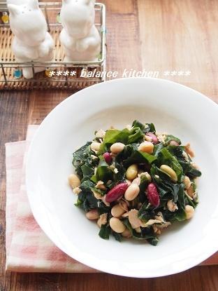 わかめと豆のツナサラダ1