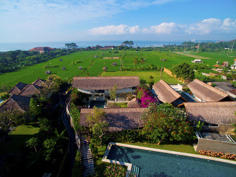 Energy Pool overlooking the ricefields and Indian Ocean