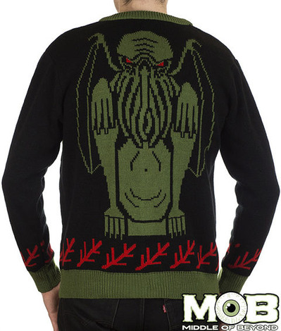 CTHULHU LOVECRAFT CARDIGAN BACK
