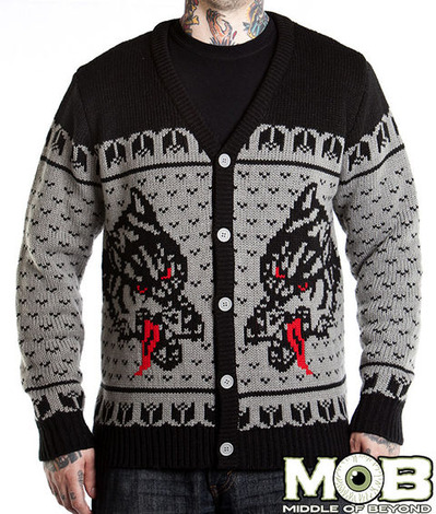 WOLF TATTOO CARDIGAN