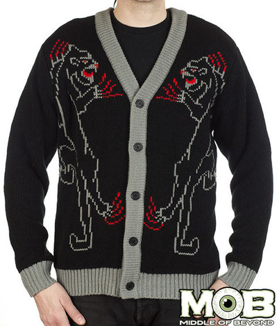 PANTHER TATTOO CARDIGAN
