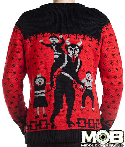 KRAMPUS THE CHRISTMAS DEVIL CARDIGAN BACK