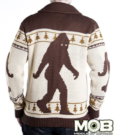 BIGFOOT SASQUATCH CARDIGAN BACK